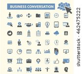 business conversation icons | Shutterstock .eps vector #462475222