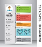 job resume or cv template... | Shutterstock .eps vector #462476392