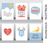 baby shower party greeting and... | Shutterstock .eps vector #462478636