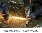flame sparks with electric... | Shutterstock . vector #462479935