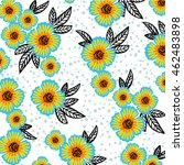 flower pattern | Shutterstock .eps vector #462483898