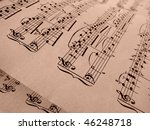 sepia toned old musical notes... | Shutterstock . vector #46248718