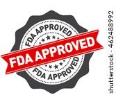 fda approved stamp vector over... | Shutterstock .eps vector #462488992