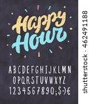 happy hour. chalkboard sign... | Shutterstock .eps vector #462491188