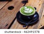 matcha green tea latte | Shutterstock . vector #462491578
