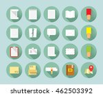 twenty flat design icons... | Shutterstock .eps vector #462503392