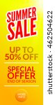 summer hot sale discount... | Shutterstock .eps vector #462504622