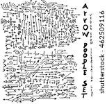 vector hand drawn arrows set | Shutterstock .eps vector #462509116