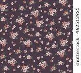 seamless vintage flower pattern  | Shutterstock .eps vector #462512935