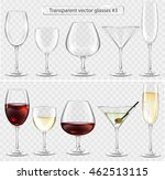 set of transparent vector glass ... | Shutterstock .eps vector #462513115