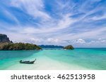 thai long tail boat on... | Shutterstock . vector #462513958