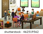 a vector illustration of happy... | Shutterstock .eps vector #462519562