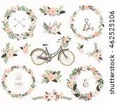 Vintage Flower Wreath Bicycles...