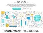 vector elegant thin line flat... | Shutterstock .eps vector #462530356