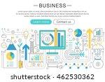 vector elegant thin line flat...   Shutterstock .eps vector #462530362