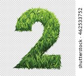 number two of green grass. a... | Shutterstock .eps vector #462533752
