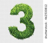 number three of green grass. a... | Shutterstock .eps vector #462533812