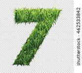 number seven of green grass. a... | Shutterstock .eps vector #462533842