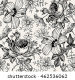 seamless pattern. beautiful... | Shutterstock .eps vector #462536062