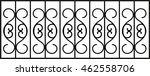 Wrought Iron Fence With...