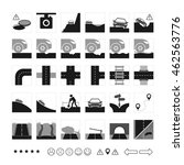 vector set of road icon.... | Shutterstock .eps vector #462563776