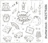 doodle set of images about good ... | Shutterstock .eps vector #462575686