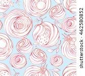 cute seamless pattern of a... | Shutterstock .eps vector #462580852