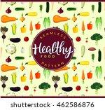 vegetables ingredients seamless ... | Shutterstock .eps vector #462586876