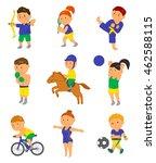 cartoon sport kids. vector... | Shutterstock .eps vector #462588115