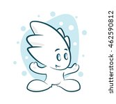 funny icicle character vector... | Shutterstock .eps vector #462590812