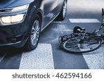 car standing on the pedestrian... | Shutterstock . vector #462594166
