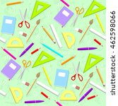 school pattern. background with ... | Shutterstock .eps vector #462598066