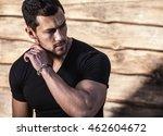 portrait of young beautiful... | Shutterstock . vector #462604672