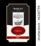 label for wine | Shutterstock .eps vector #46260754