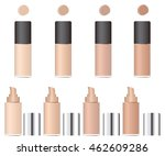 shades of concealer. glass... | Shutterstock .eps vector #462609286