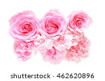 bouquet of carnation and rose | Shutterstock . vector #462620896