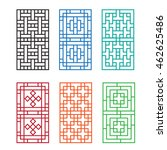 chinese ornament for door ...   Shutterstock .eps vector #462625486