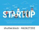 startup concept flat... | Shutterstock .eps vector #462627202
