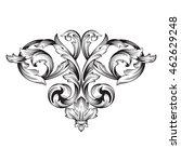 vintage baroque ornament. retro ... | Shutterstock .eps vector #462629248