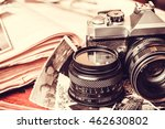 old retro vintage camera and... | Shutterstock . vector #462630802