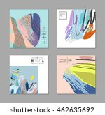 set of artistic creative... | Shutterstock .eps vector #462635692