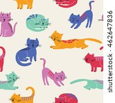 cute seamless pattern with... | Shutterstock .eps vector #462647836