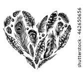 hand drawn ink rustic design... | Shutterstock .eps vector #462650656