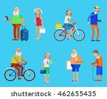 character travelers. old age... | Shutterstock .eps vector #462655435