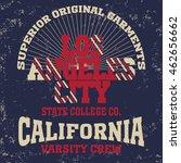 college fashion design print... | Shutterstock .eps vector #462656662