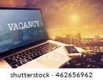 Stock photo vacancy grey screen laptop computer vintage effects digital business and technology concept 462656962
