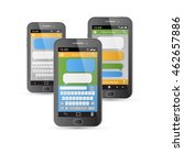 smartphone chatting sms app...