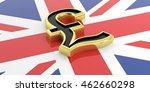 British Pound Symbol On A Uk...