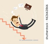 man in suit  businessman or... | Shutterstock .eps vector #462662866