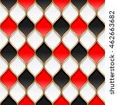 red  black and white rhombuses... | Shutterstock .eps vector #462663682